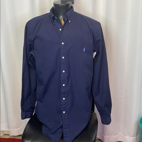 Ralph Lauren Navy Blue Button Down